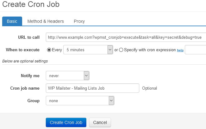 Cron Job Setup Wp Mailster